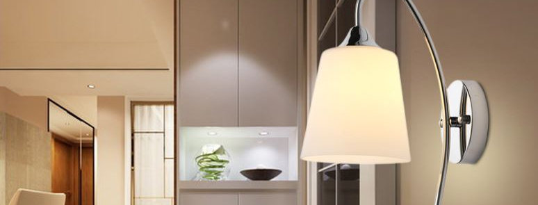 Glass Leave Design Wall Light