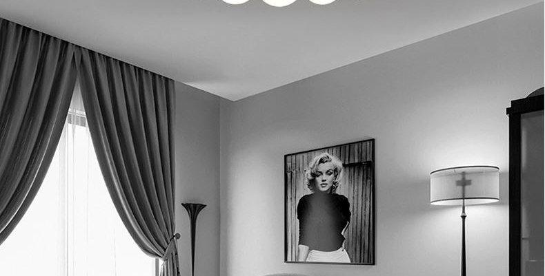LED Modern Simplicity European Design Metal Acrylic Ceiling Light