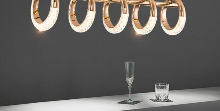 LED Multi-Design Golden Ring Pendant/Ceiling/Wall/Table Light