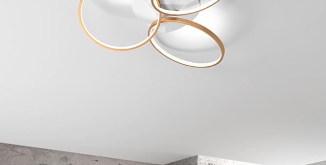 LED Modern Halo Art Ceiling Light