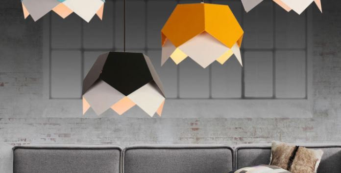 Modern Metal Macaron Colour Geometry Creative Pendant Light