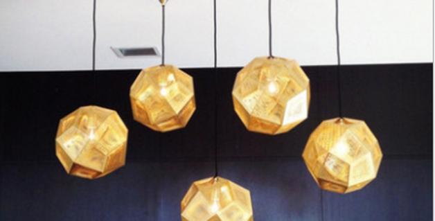 Stainless Steel LED Multi-face Sphere Pendant for Bar Restaurant Dining Room