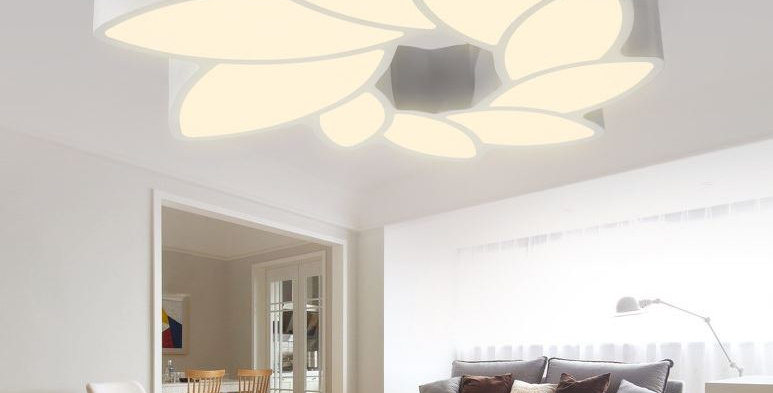 LED Acrylic Flower Metal Modern Ceiling Light