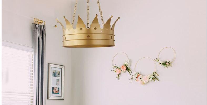 LED Crown The Princess Pedant Light Children Light