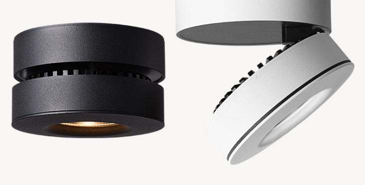 LED Button Design Ultra-light Ceiling Spotlight