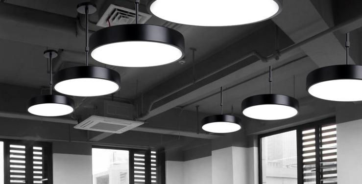 LED Simple Office Round Pendant Light