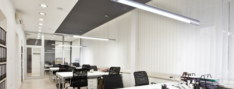 LED Pipe Design Office Pendant Light