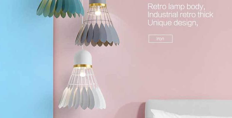 LED Giant Shuttlecock Design Pendant Light