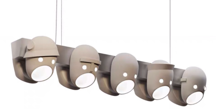 LED Modern Creative  Mask Design Linear Pendant Light