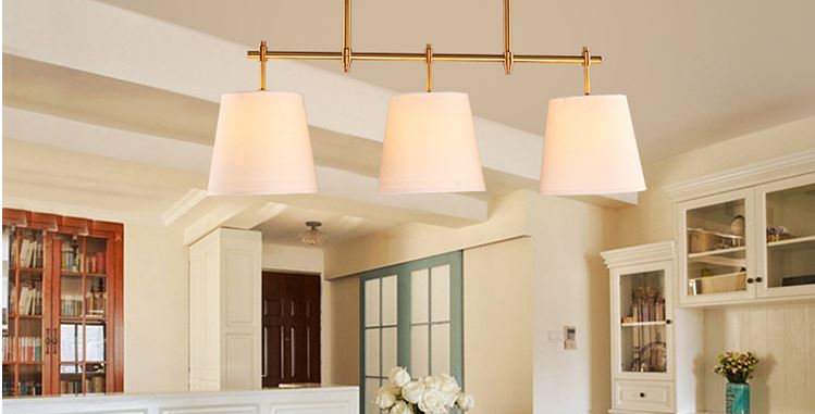 LED Cloth American Country Design Pendant Chandelier