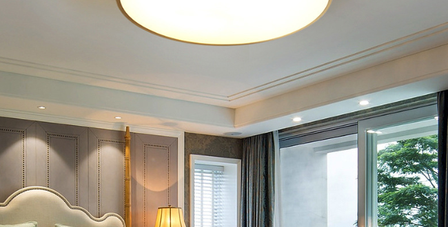 LED Modern Brass Ceiling Light