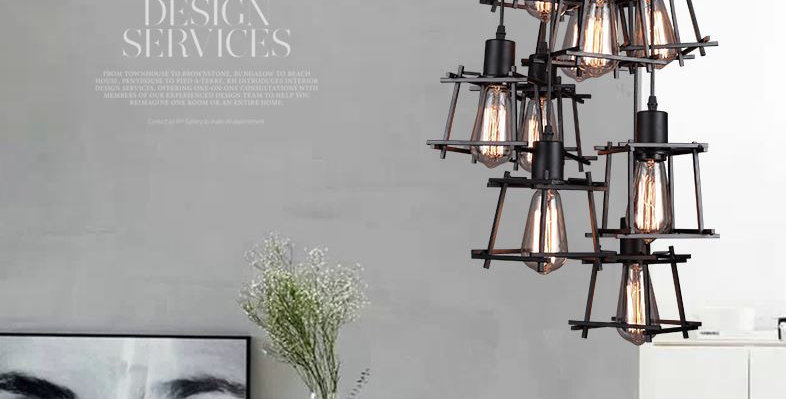 LED Retro Metal Pendant Chandelier American Industrial Style