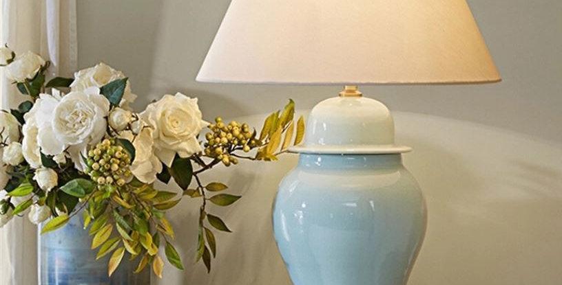 LED American Ceramics Table Lamp