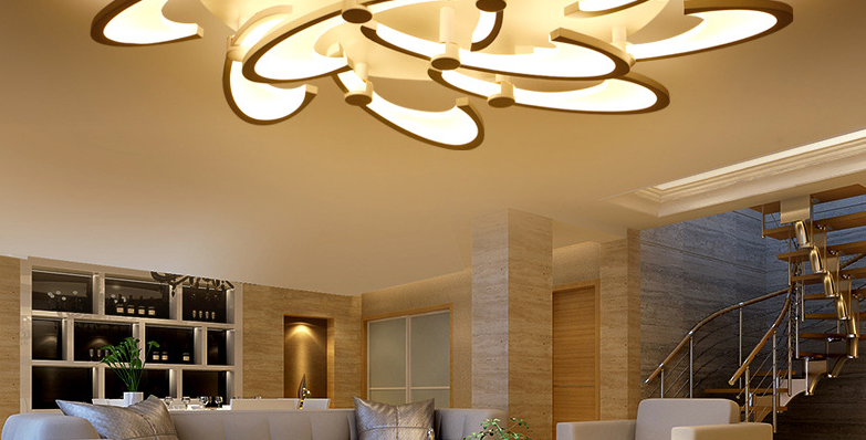 Modern LED Blossom Design Ceiling Light for Living Room