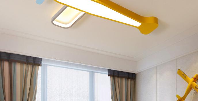 LED Airplane Design Children's Ceiling Light