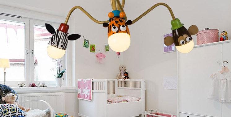 LED Cartoon Metal Chandelier for Children Room