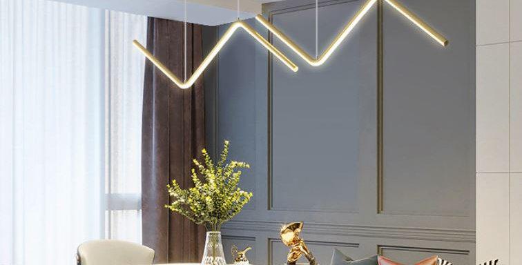 LED Aluminum Wave Pendant