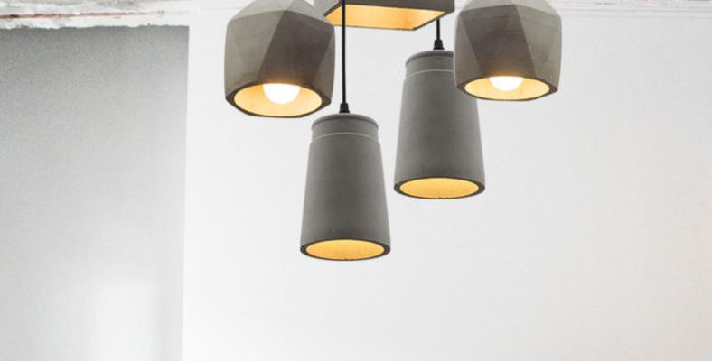 Creative Classic LED Cement Pendant for Restaurant Balcony