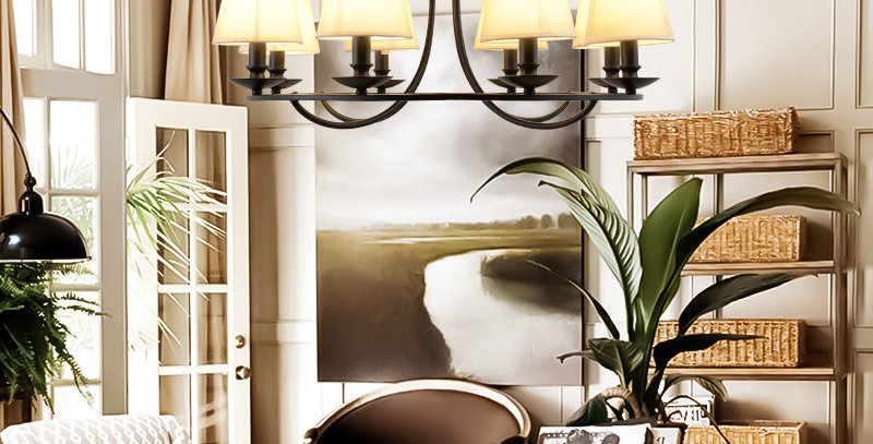 American Country Style Metal Retro Chandelier