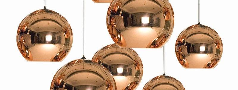 LED Electroplated Sphere Shape Pendant