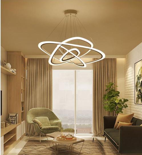 Post modern creative ring design led acrylic pendant light aloadofball Image collections