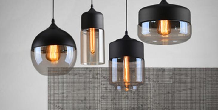 Minimalist Style LED Glass Pedent
