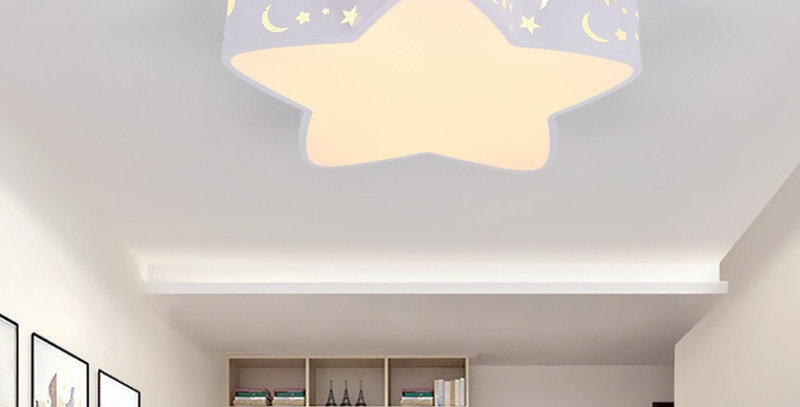 Acrylic LED Star Ceiling Light for Children Room