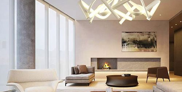 LED Acrylic Wave Design Light for Living Room Bedroom