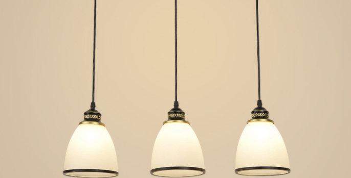LED American Country Style 3-Light Design Retro Pendant Light