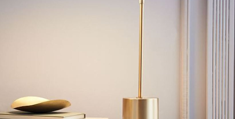 LED Metal Wood Table Lamp