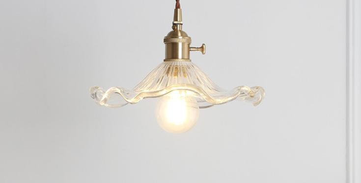 LED Japanese Style Modern Glass Pendant Light