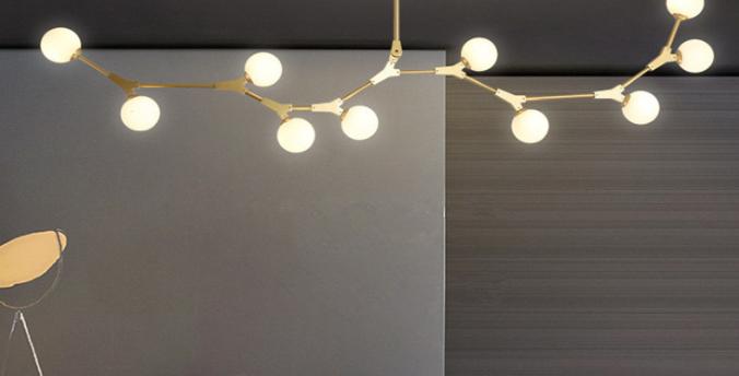 LED Branch Design DNA Molecular Pendant Light
