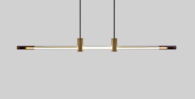 LED Linear Simple Creative Pendant Light