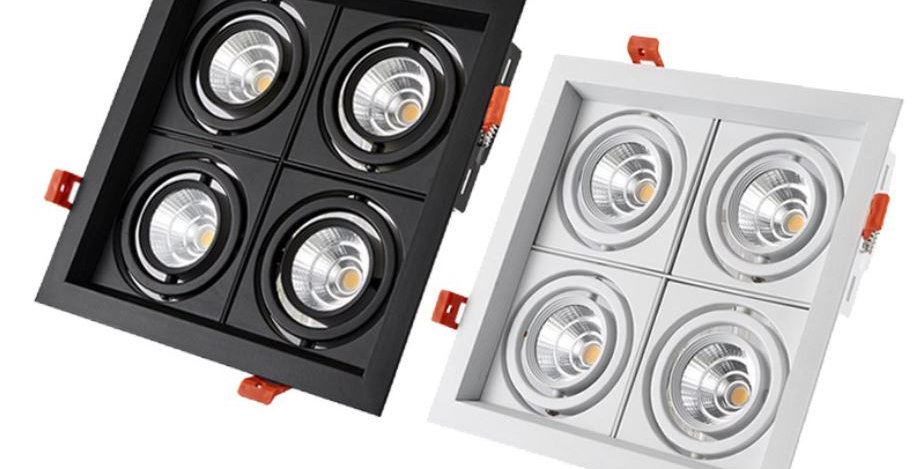 LED Four Lights Recessed Downlight