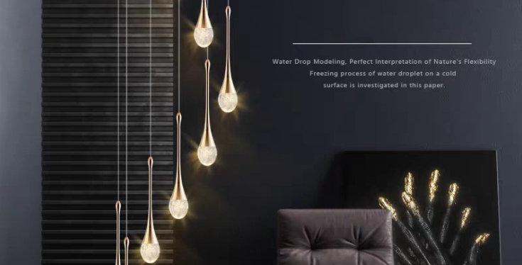 LED Modern Droplets Design Luxury Pendant Light