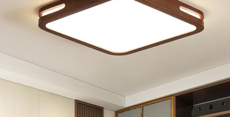 LED Classic Wood Basic Ceiling Light