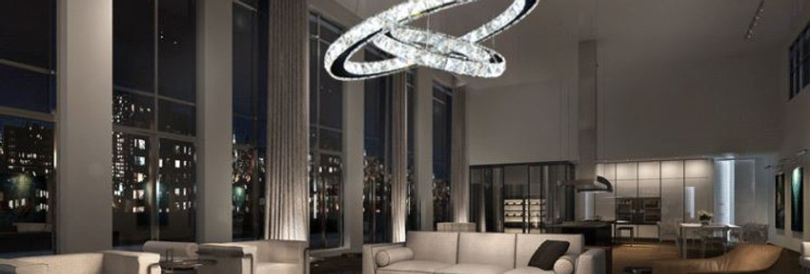 Crystal LED Stainless Steel Chandelier