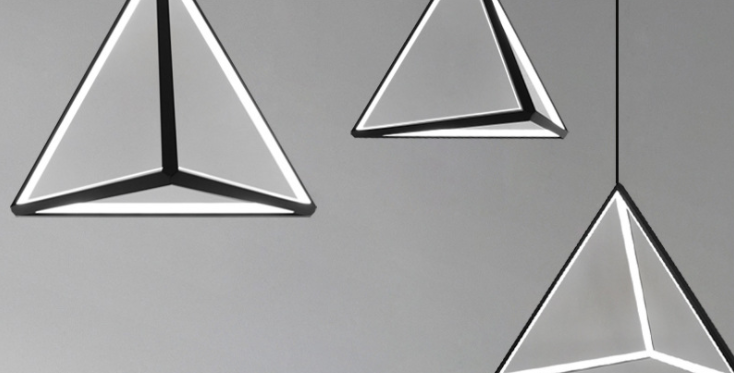 LED Pyramid Design Pendant Light