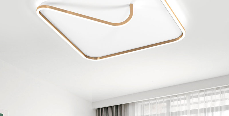 LED Modern Rope with Square Ceiling Light