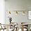 Thumbnail: LED Triple Brass Pendant Lights Set
