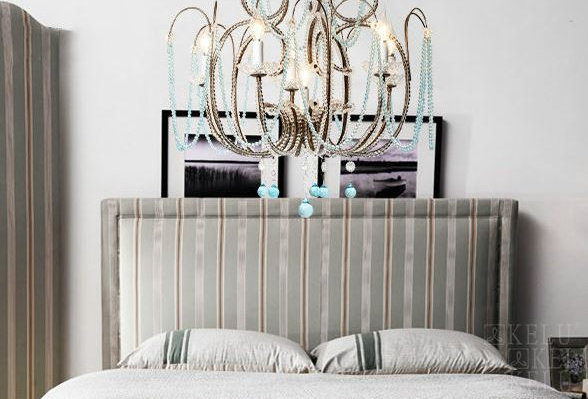 American Country Crystal Blue LED Chandelier