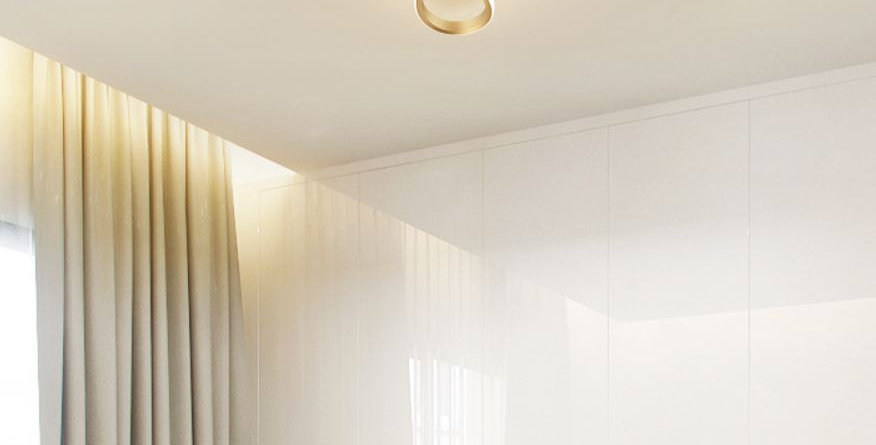 LED Flower Gold Ceiling Light