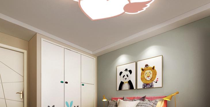 LED Heart-Shape Angel Children Ceiling Light