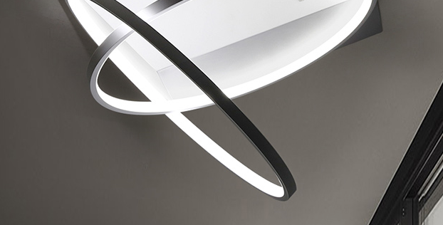 LED Modern TWINS-HALO Ceiling Light
