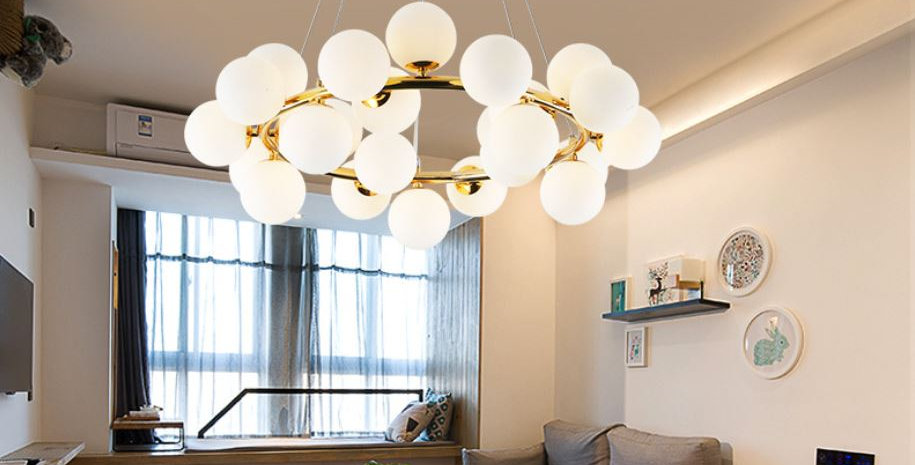 LED Chandelier Molecular Modern Magic Beans DNA for Living Room Dining Room