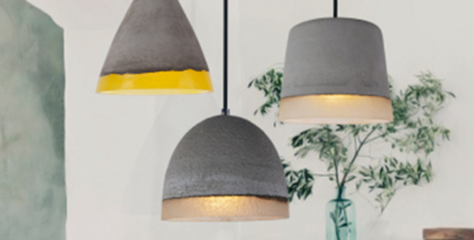 Vintage LED Cement Pendant