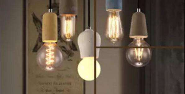 Concise Style LED Loft Cement Pendant