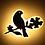 Thumbnail: Modern Cute Bird Design LED Wall Light