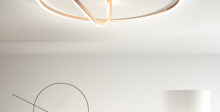 LED Modern Rope with Circle Ceiling Light