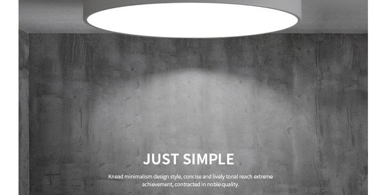 Acrylic LED Round Modern Ceiling Light